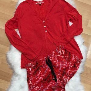 Victoria's Secret Red PJ Set